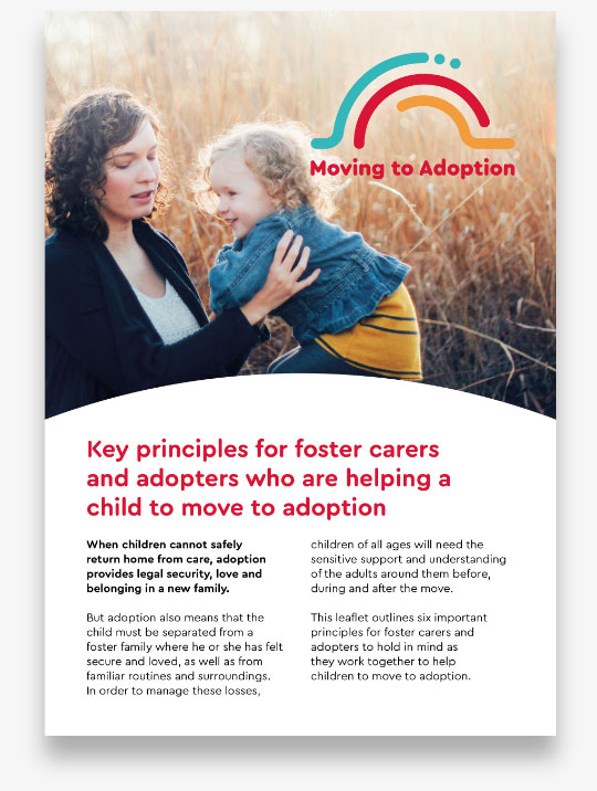 moving to adoption key principles leaflet
